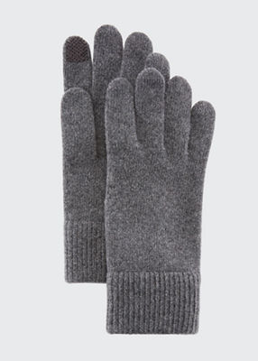 Cashmere Touchscreen Gloves in Gray