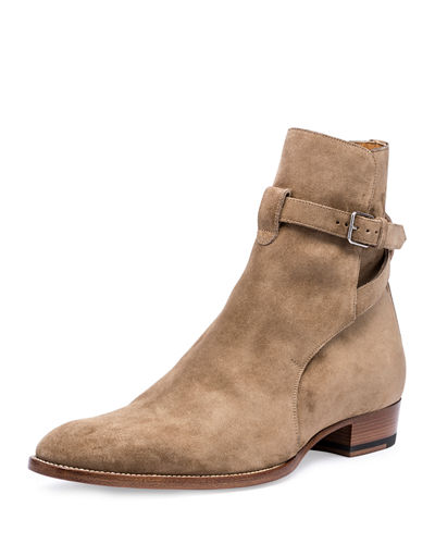 6e7a5da197f Saint Laurent Wyatt 40mm Suede Jodhpur Boot