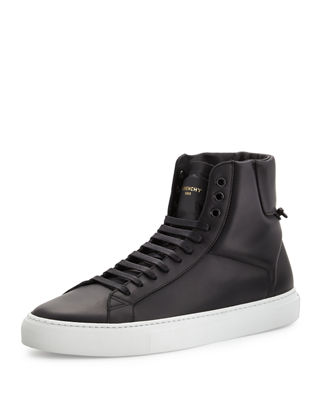 Black Urban Street High-Top Sneakers Givenchy