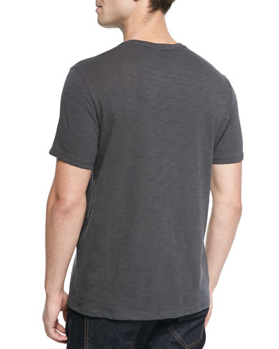 Basic Slub V-Neck T-Shirt