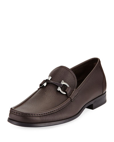 Textured Calfskin Gancini Loafer