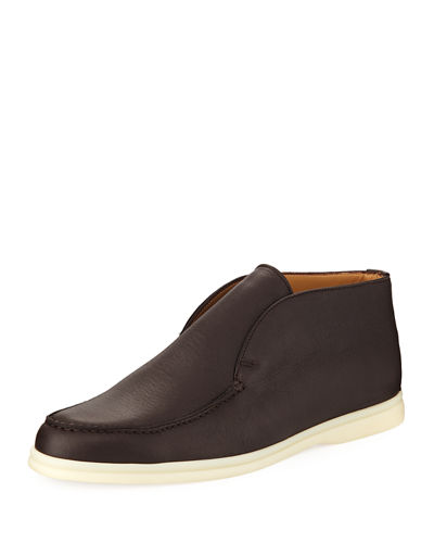 Open Walk Leather Slip-On Sneaker