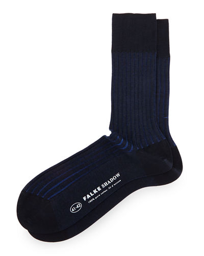 Shadow-Stripe Knit Socks