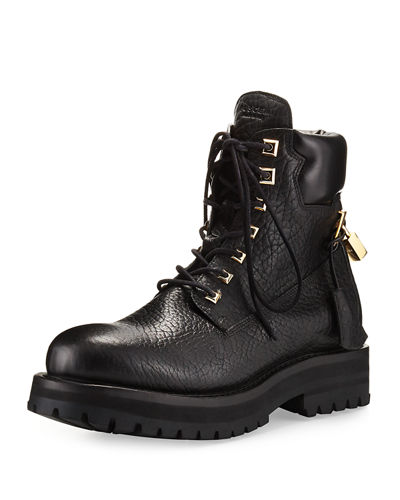 101747f0700fc Buscemi Site Leather Lace-Up Hiking Boot