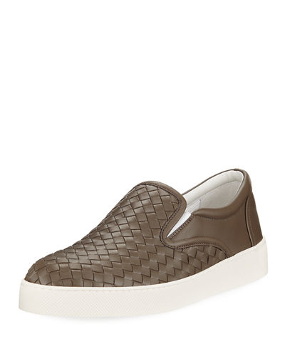f955db0ab7cb Woven Leather Slip-On Sneaker