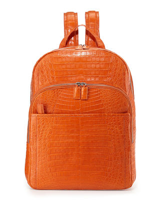 SANTIAGO GONZALEZ CAIMAN CROCODILE BACKPACK, ORANGE