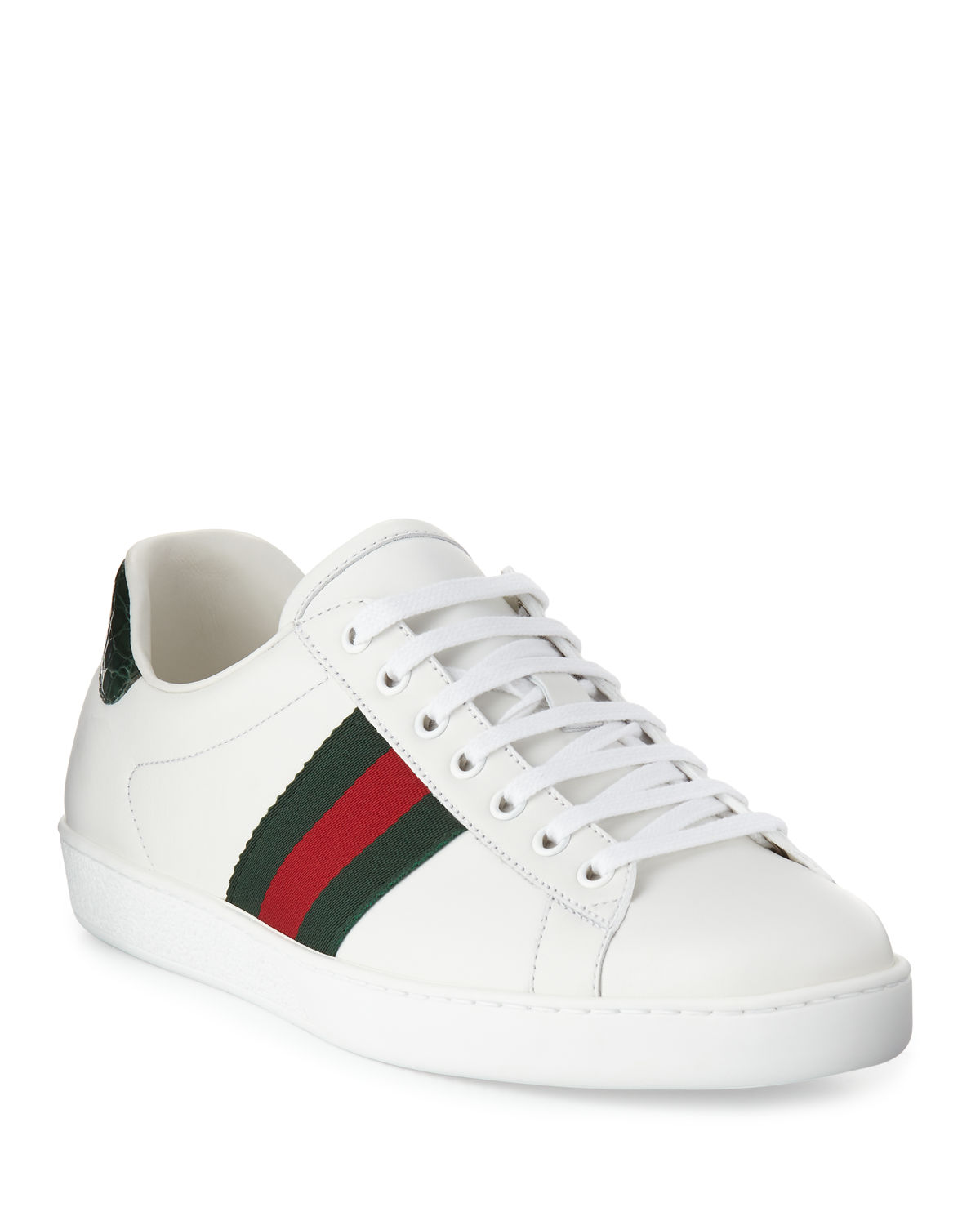 6a187c7d59c Gucci Men s New Ace Leather Low-Top Sneakers