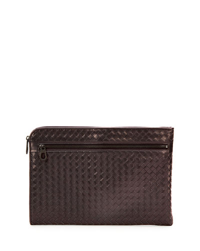 Woven Leather Portfolio Case
