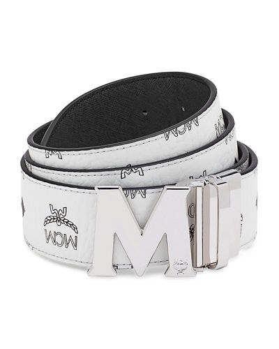 Visetos Reversible M-Buckle Monogram Belt