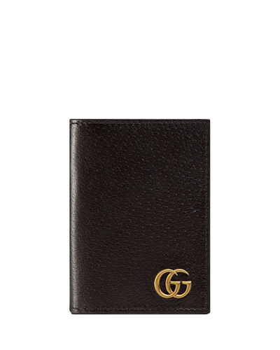 GG Marmont Leather Fold-Over Card Case