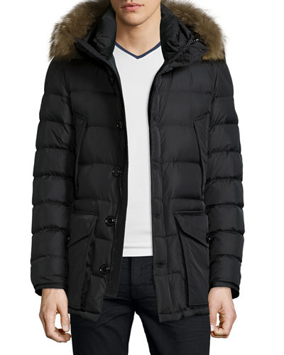 moncler navy men's coat