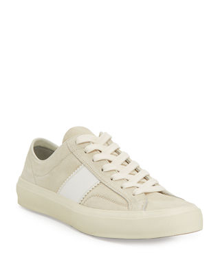 tom ford cambridge suede striped low-top sneaker
