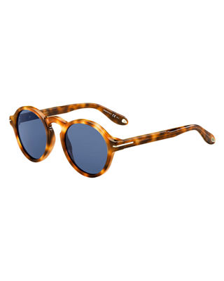 GIVENCHY ROUND ACETATE SUNGLASSES, BROWN