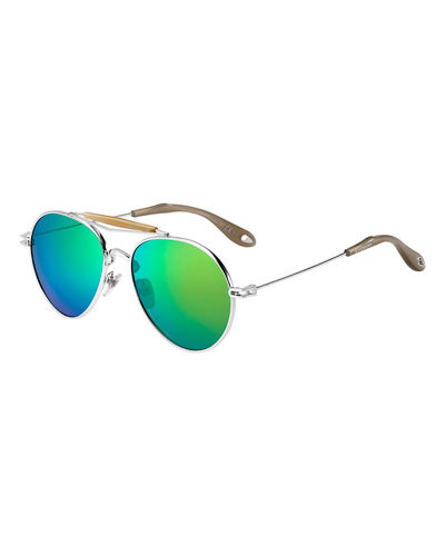 292f0000467 Metal Mirrored Aviator Sunglasses Quick Look. Givenchy