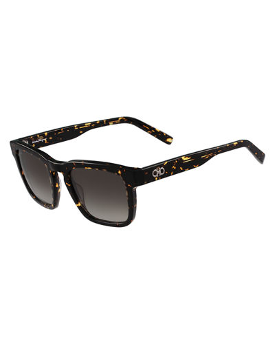 Gancini Square Acetate Sunglasses