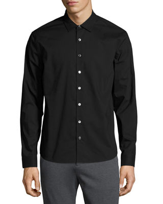 ATM ANTHONY THOMAS MELILLO CLASSIC-FIT BUTTON-FRONT SHIRT, BLACK