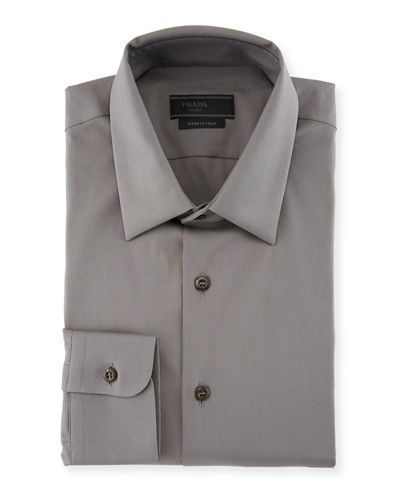 Classic Cotton Poplin Slim-Fit Shirt