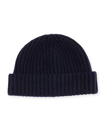 251a6f582aaf56 Men s Ribbed Cashmere Beanie Hat