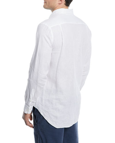 de53329ce Loro Piana Men's Andrew Long-Sleeve Linen Shirt