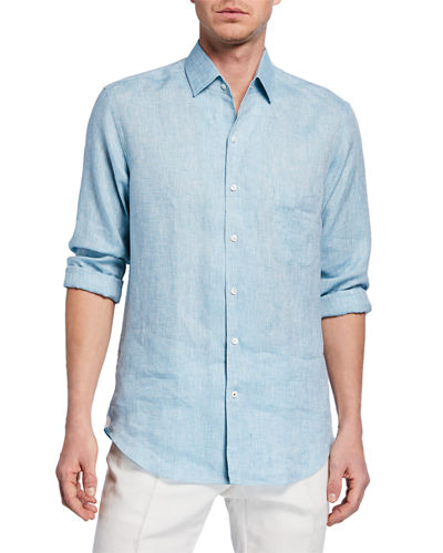 Men's Andrew Long-Sleeve Linen Shirt