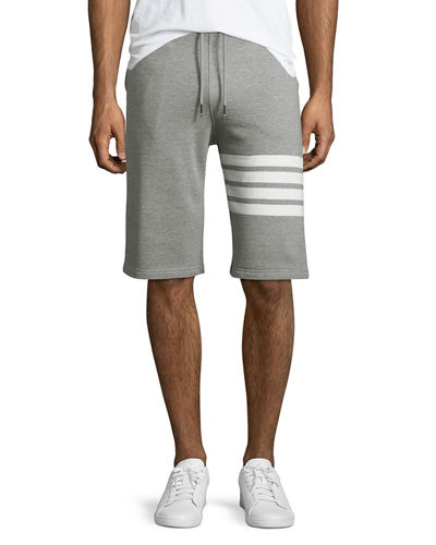 Classic Striped-Leg Sweat Shorts