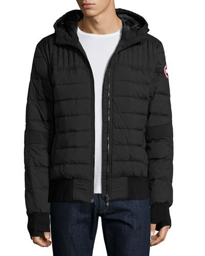 Cabri Hooded Down Bomber Jacket