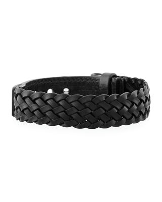 Tom Ford Mens Leather T-Buckle Bracelet