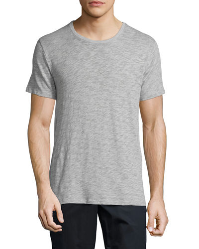 Short-Sleeve Crewneck Slub T-Shirt