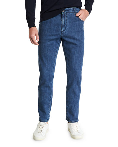 Men's Dark Wash Straight-Leg Jeans