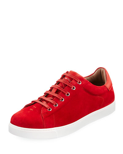 Men's Suede Low-Top Sneaker