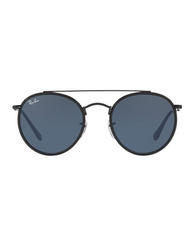 f831568cfd99 Ray-Ban Men s RB3647 Round Double-Bridge Sunglasses