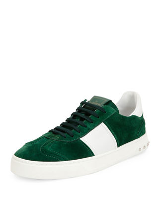 Valentino Suede Low-Top Sneakers