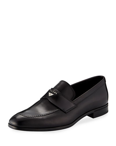 2eb9718c3a8 Prada Leather Penny Loafer