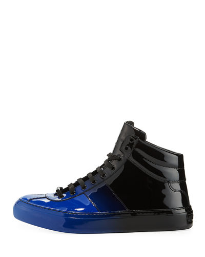 d06915f91e4 ... Patent Leather High-Top Sneakers. Belgravia Men s D  233 grad  233  Patent  Leather ...