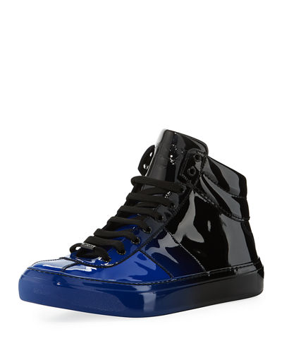 d308e5649c14 Jimmy Choo Belgravia Men s Dégradé Patent Leather High-Top Sneakers