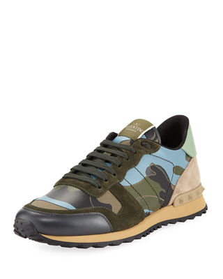 ValentinoRockrunner Camo Print Sneakers