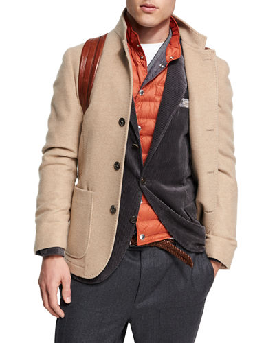Cashmere Single-Breasted Jacket