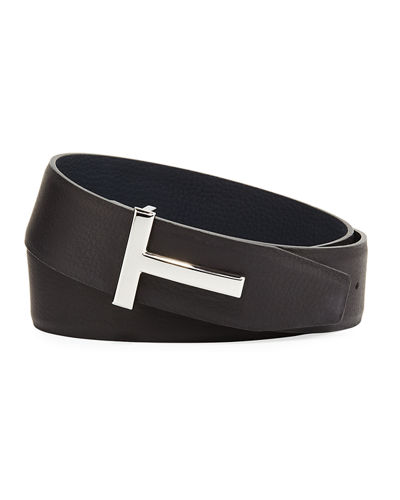 77b835368f83 TOM FORD T-Buckle Reversible Leather Belt