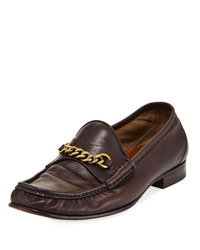 Leather York Chain Loafer