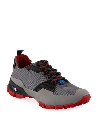 Mesh & Leather Trainer Sneaker