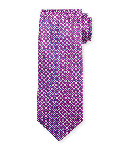 Spaced Floral Silk Tie