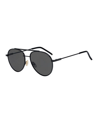 Fendi Air Men's Metal Aviator Sunglasses