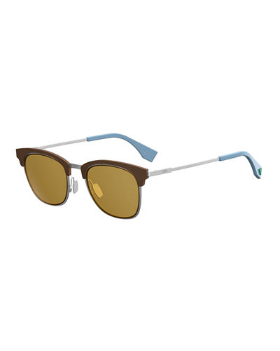 91f214ca4b3 Qbic Men s Half-Rim Square Sunglasses Quick Look. Fendi