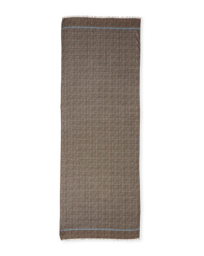Gruppo Dotted Cashmere-Blend Scarf