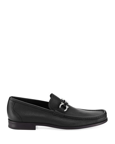Men's Grained Calf Leather Bit Loafer