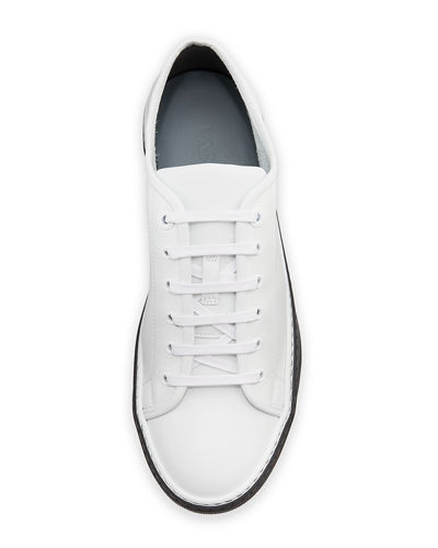 Men's Leather Low-Top Sneakers