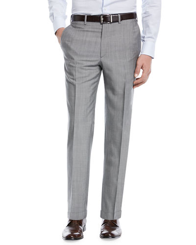 Phi Flat-Front Wool/Mohair Trousers