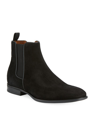 Adrian Suede Dress Boot w/ Stretch Inset