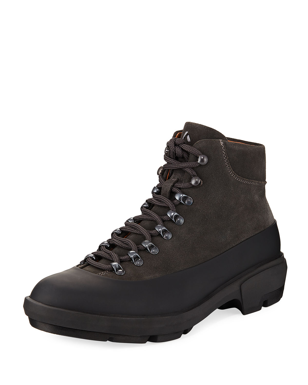 Weatherproof Suede Lace-Up Duck Boot