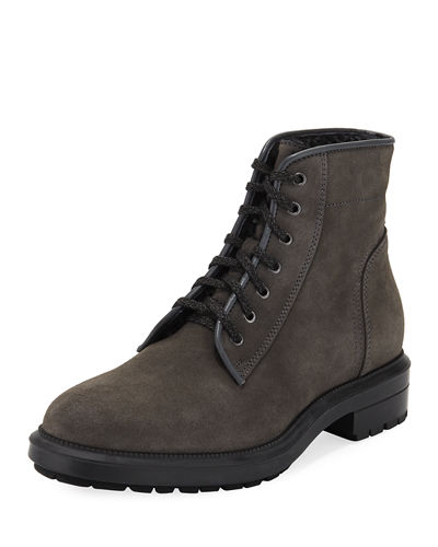 Shearling-Lined Suede Boot